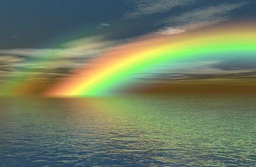 Отражение радуги
